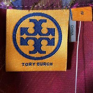 Tory Burch Tops - REDUCED Tory Burch NWT Lame Plaid Chiffon Blouse 2